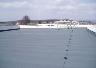 Dokončená střecha objektu