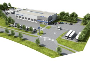 Visualization - aerial view of the VOLVO Truck Center Hradec Králové