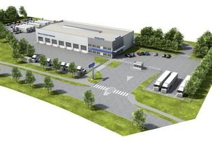 Vizualizace - letecký pohled na VOLVO Truck Center Hradec Králové