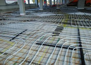 Floor heating distribution in administrative section