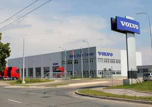 Entrance to the VOLVO Truck Center Hradec Králové