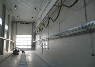 Interiér mycí linky pro nákladní automobily