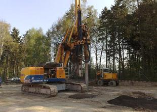 Piling - drilling rig in action