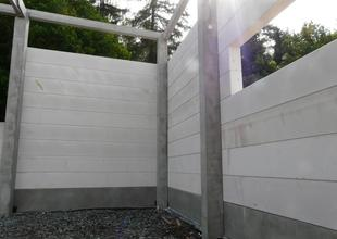 Installation of building envelope made from light-weight concrete panels