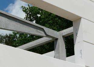 Prvky nosné železobetonové prefabrikované konstrukce nové skladovací haly