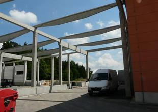 Reinforced concrete frame of the new hall