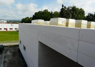 Mineral heat insulation of the roof envelope