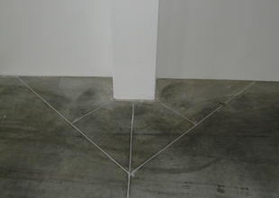 Expansion joints in the floor made from industrial fibre-reinforced concrete