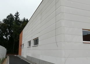 Northern facade - structured facade coating of envelope