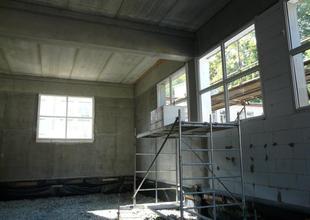 Osazení oken v nové přístavbě