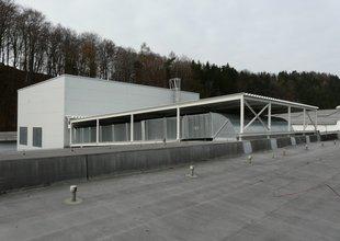 Přístavba a nové vzduchotechnické rozvody na střeše