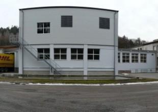 Panoramatický pohled na areál s novou přístavbou